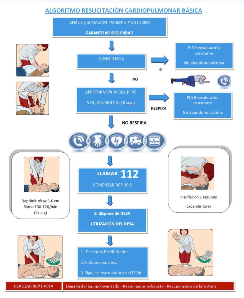 infografía protocolo RCP